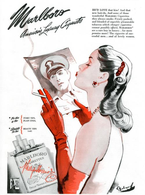 1944 advert for smoking
